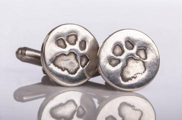 silver pet prints, personalised paw print jewellery, paw print necklace, paw print bracelet, paw print charm, silver hoof print jewellery, paw print cufflinks, paw print keyring.