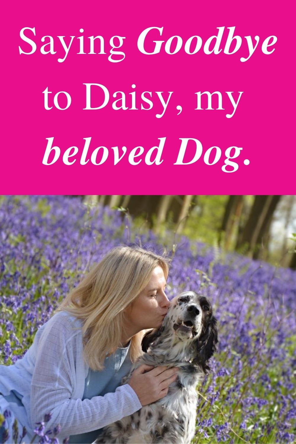 Saying Goodbye to Daisy, my beloved Dog