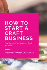 How to Start & Set Up a Craft Business