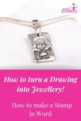 How to Make a Stamp in Word to make Artwork & Handprint Jewellery